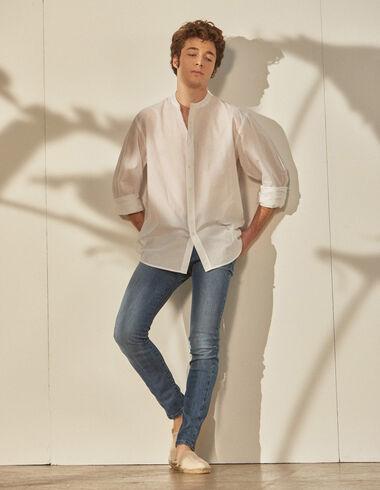 Chemise blanche col Mao homme - Chemises - Nícoli