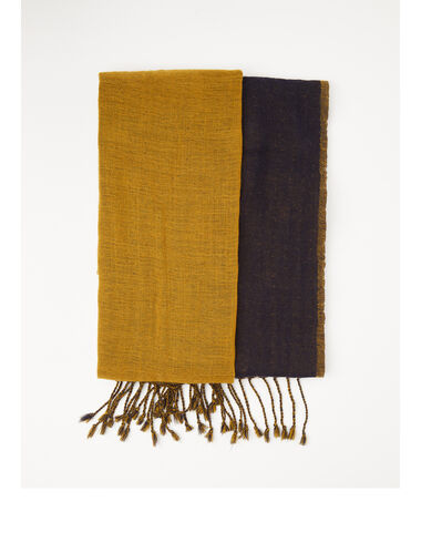 Two-tone mustard scarf - Scarves - Nícoli