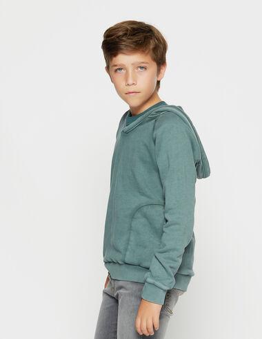 Boy's dark green hoodie - View all > - Nícoli