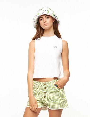 T-shirt sans manches blanc - Ropa - Nícoli