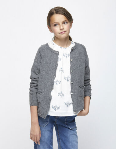 Grey cardigan with buttons - View all > - Nícoli