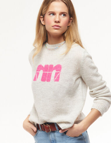 "Pink ""N"" round neck jumper - Jumpers & Sweatshirts - Nícoli"