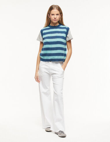 White wide leg jeans with pocket - New in - Nícoli
