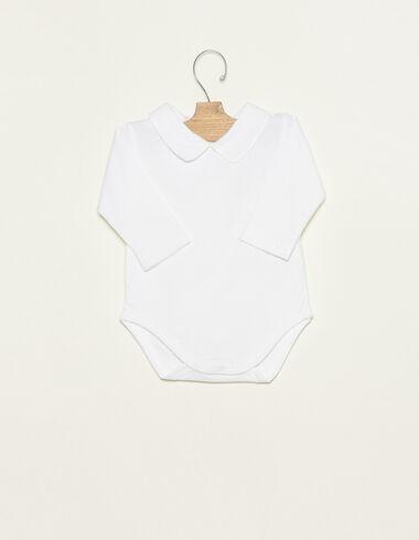 White Peter Pan collar bodysuit - Ropa - Nícoli