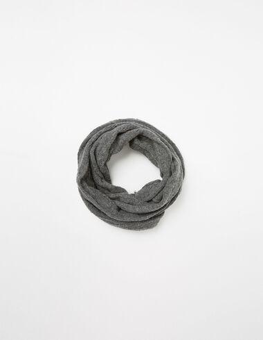 Bufanda calada gris - Bufandas - Nícoli