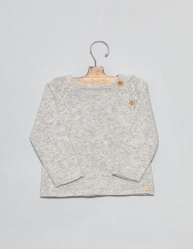 Pull gris à boutons pour bébés - Voir tout > - Nícoli