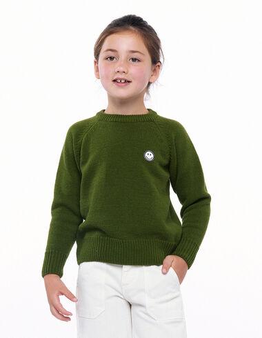 Green smile jumper - Smile! - Nícoli