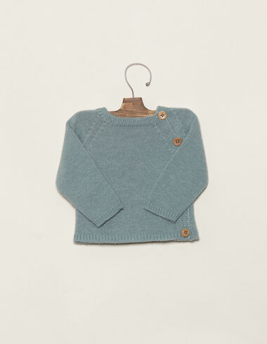 Baby´s blue jumper with buttons - View all > - Nícoli