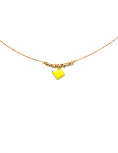 Yellow rhombus necklace - View all > - Nícoli