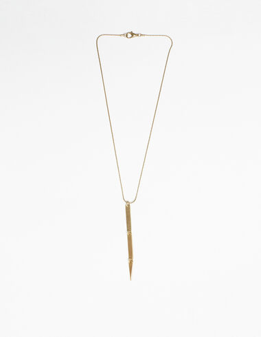 Rectangle encklace in gold tone - New in - Nícoli