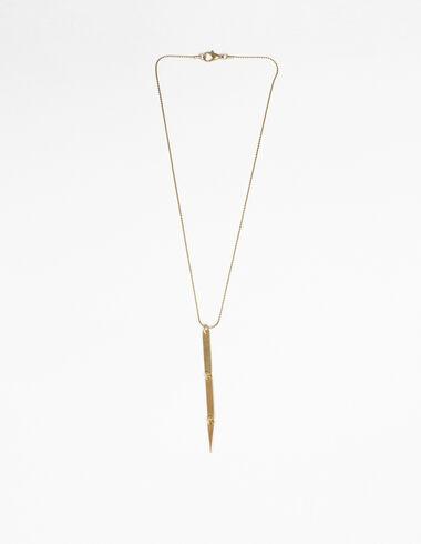 Collar rectángulo dorado - New in - Nícoli