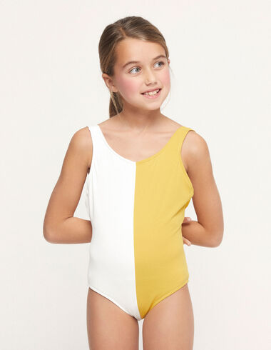 Ecru/yellow two-tone swimsuit - Swimwear - Nícoli