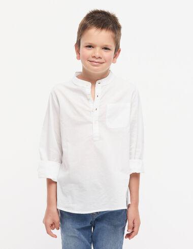 Chemise blanche col mao  - Voir tout > - Nícoli