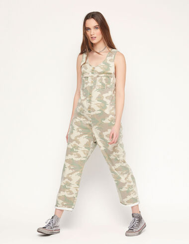 Green camouflage jumpsuit - View all > - Nícoli