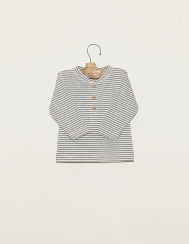 T-shirt rayé gris - Voir tout > - Nícoli