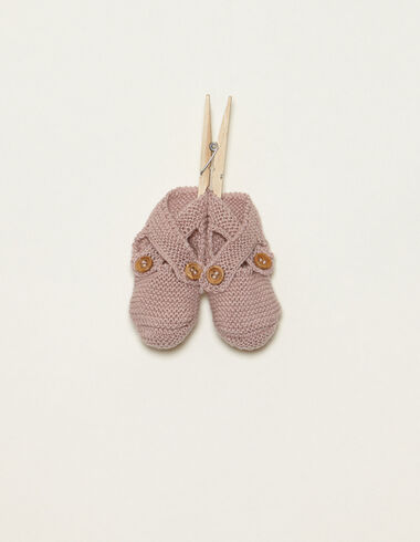 Pink bootees with buttons - View all > - Nícoli