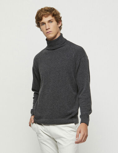 Dark grey turtleneck jumper - New in - Nícoli