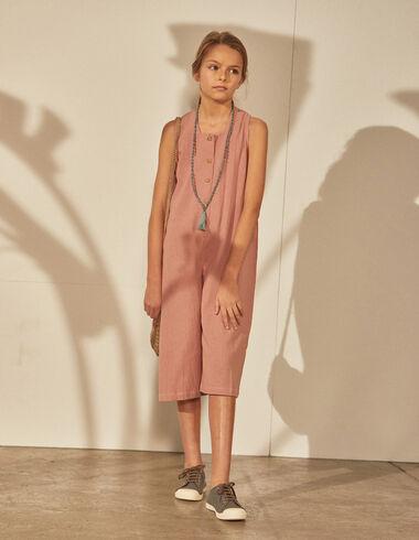 Girl's strawberry culotte jumpsuit - Girl - Nícoli