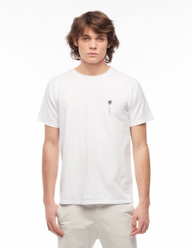 T-shirt palmier blanc - Tee-Shirts Solidaires - Nícoli
