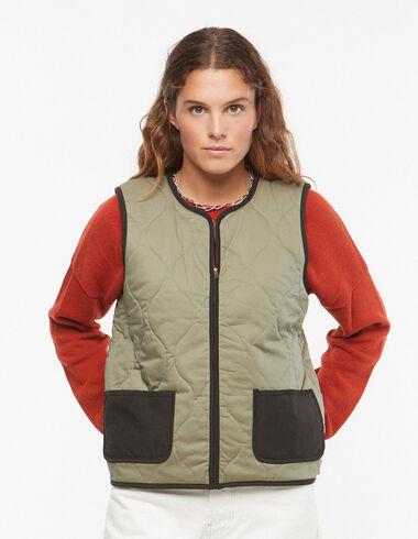 Chaleco guateado verde - Ropa de abrigo - Nícoli