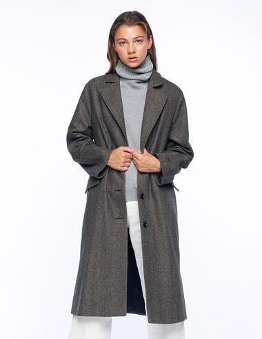 Manteau long chevron marron - Voir tout > - Nícoli