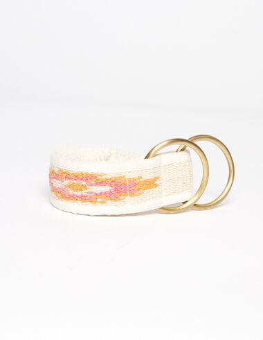 Ceinture ethnique écrue et orange - Gift Ideas for Mum - Nícoli