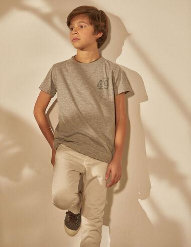 """Boy's grey """"49"""" charity t-shirt - T-Shirts - Nícoli"""