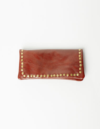 The 'N' wallet marron - Gift Ideas By Isabelle Dubrulle - Nícoli