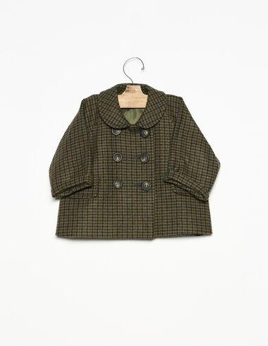 Manteau bébé col rond tweed vert - Voir tout > - Nícoli