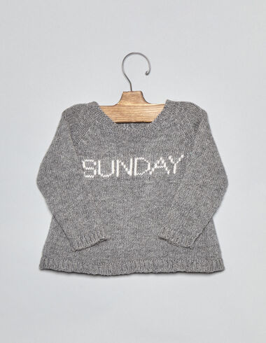 Grey Sunday baby sweater - Pullovers - Nícoli