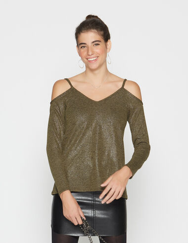 girl's green sweater with openings - View all > - Nícoli