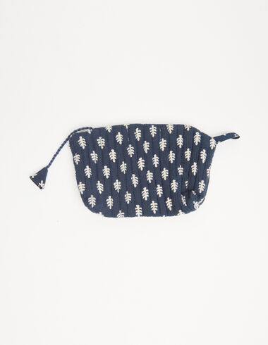 Blue coin purse with white twigs details - View all > - Nícoli