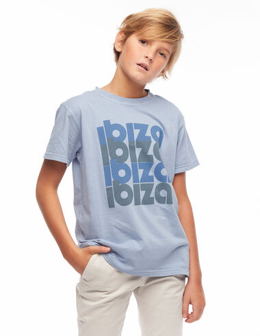 T-shirt Ibiza bleu - Tee-Shirts Solidaires - Nícoli