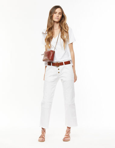 White trousers with patches - The Summer Denim - Nícoli