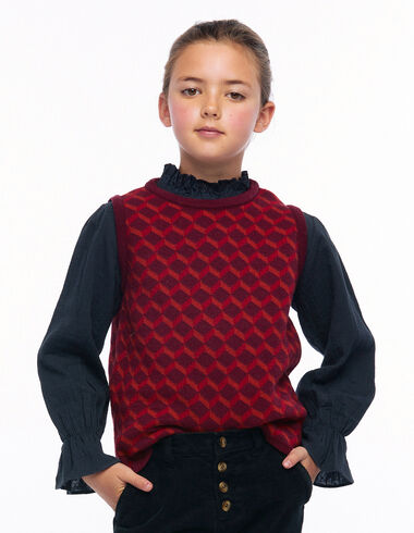 Chaleco cuello redondo print geométrico caldero - Ver todo > - Nícoli