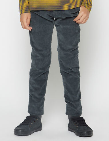 Boy's anthracite corduroy chinos - View all > - Nícoli