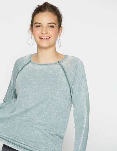 Camiseta chica desgastada verde - Camisetas - Nícoli