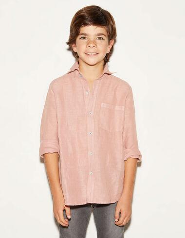 Camisa pico lino fresa - Ver todo > - Nícoli