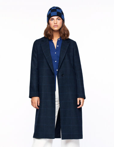 Blue checked slit coat - View all > - Nícoli