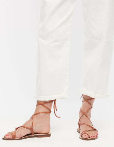 Brown sandals with laces - View all > - Nícoli