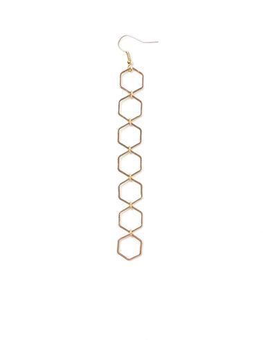 Boucles d'oreilles petits hexagones dorés - Voir tout > - Nícoli