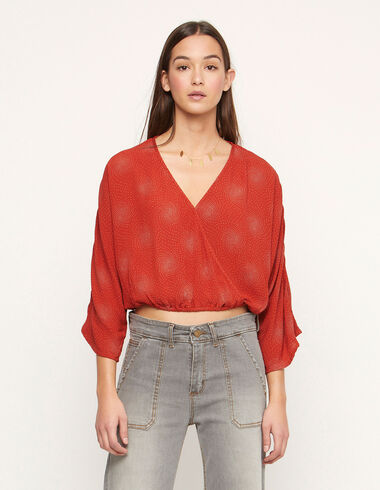 Russet spiral crossed shirt - View all > - Nícoli