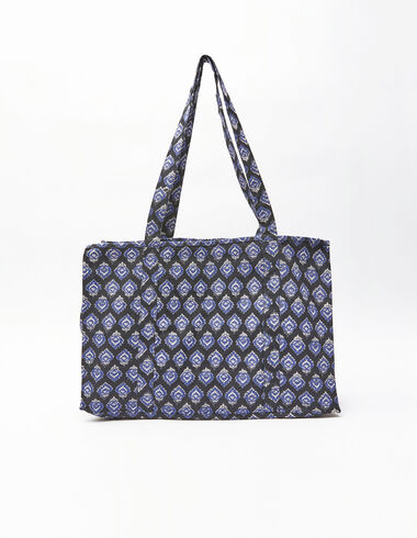 Anthracite buti print beach bag - Gift Ideas By Isabelle Dubrulle - Nícoli