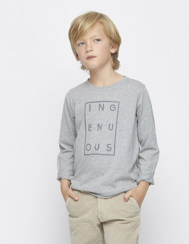 "Tee-shirt solidaire gris ""ingenuous"" - Tee-shirts - Nícoli"