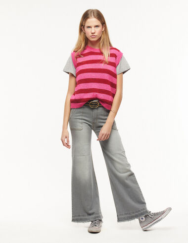 Grey wide leg jeans with pockets - New in - Nícoli