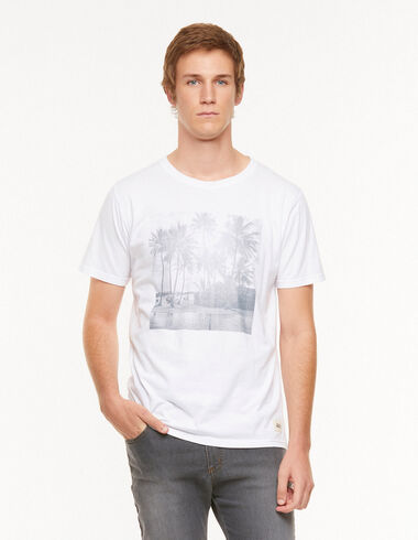 White 'palm tree' charity t-shirt - View all > - Nícoli