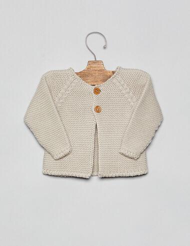 Veste gris clair bébé - Cardigans - Nícoli
