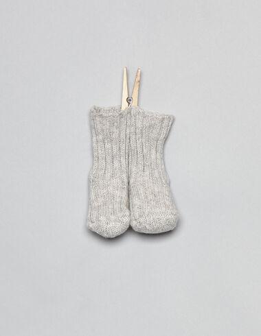 Grey knit baby socks - View all > - Nícoli