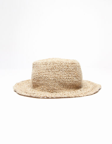 Natural raffia hat  - The Spring Colour For Kids - Nícoli