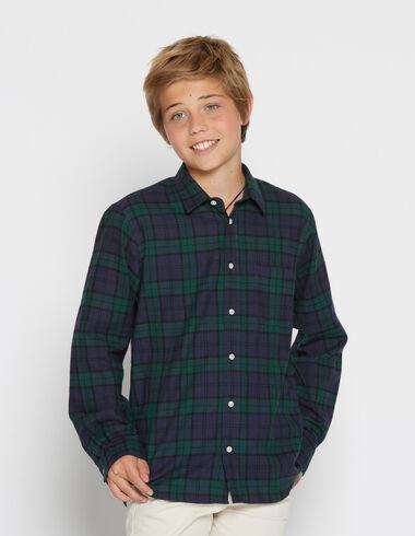 Boy's tartan v-neck top - Shirts - Nícoli
